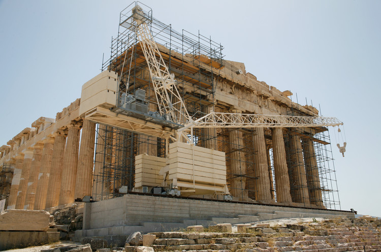 West side of the Parthenon. Copyright Haydn Williams 2011