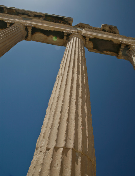 Column of the Erechtheum at the Acropolis. Copyright Haydn Williams 2011