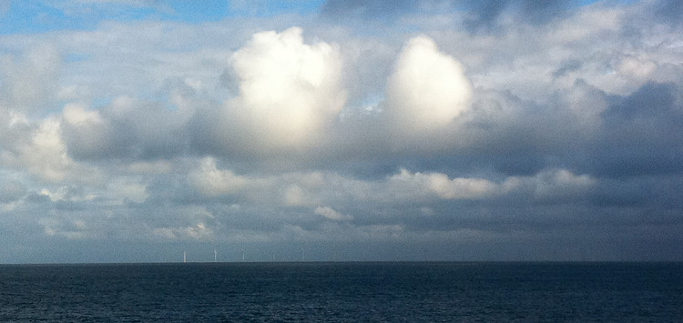 One of the biggest wind farms in the world: Gwynt-y-Mor, off the North Wales coast. Copyright Haydn Williams 2011