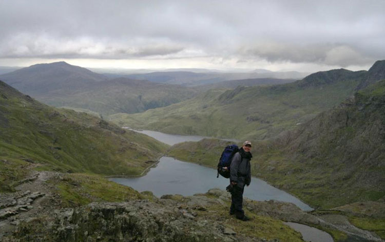 Dad above Glaslyn on the Miner's Path. Copyright Jono Sumner 2011