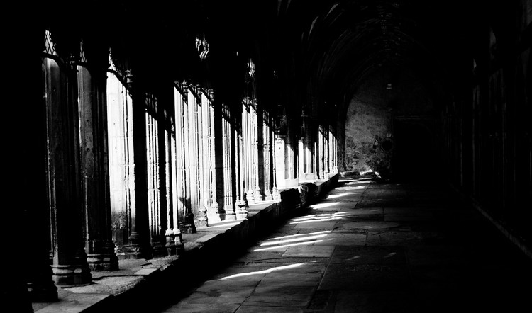 Sunlight in the cloisters. Copyright Haydn Williams 2011