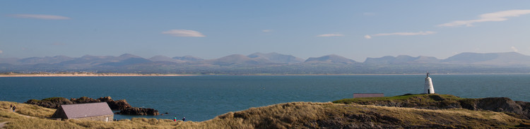 The view from Llandwyn island across the Menai Straits towards Snowdonia.  Haydn Williams 2011
