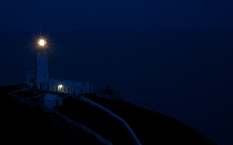 South Stack lighthouse at dusk.  Haydn Williams 2011