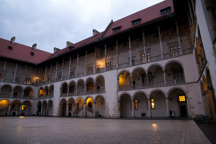 The impressive courtyard of the Royal Castle at Wawel. © Haydn Williams 2011