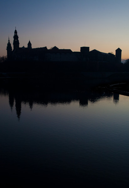 The towers and spires of the historic cathedral and castle of Wawel at dawn.  Haydn Williams 2011