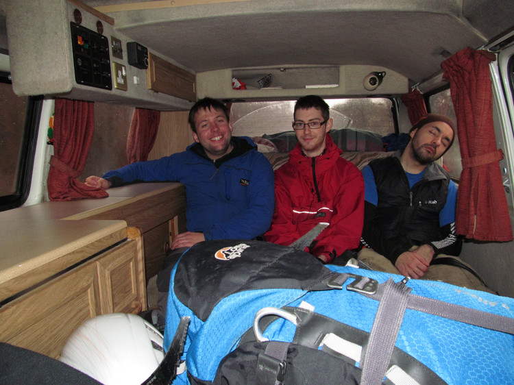 Smiling faces in the camper van. © Haydn Williams 2012
