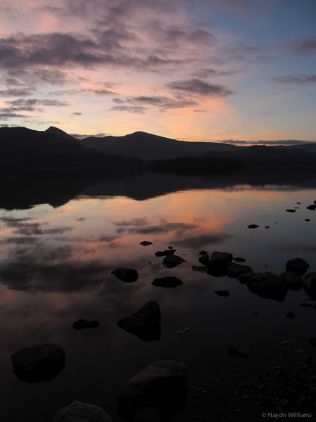 Sunset over Derwent Water. © Haydn Williams 2013