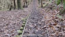 Looking down the tracks. I wish this photo did the gradient justice. © Haydn Williams 2014