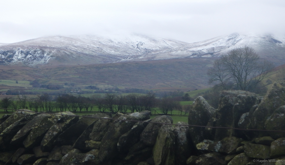 Looking towards the Dodds on the way home; less snow than the Northern Fells. © Haydn Williams 2016