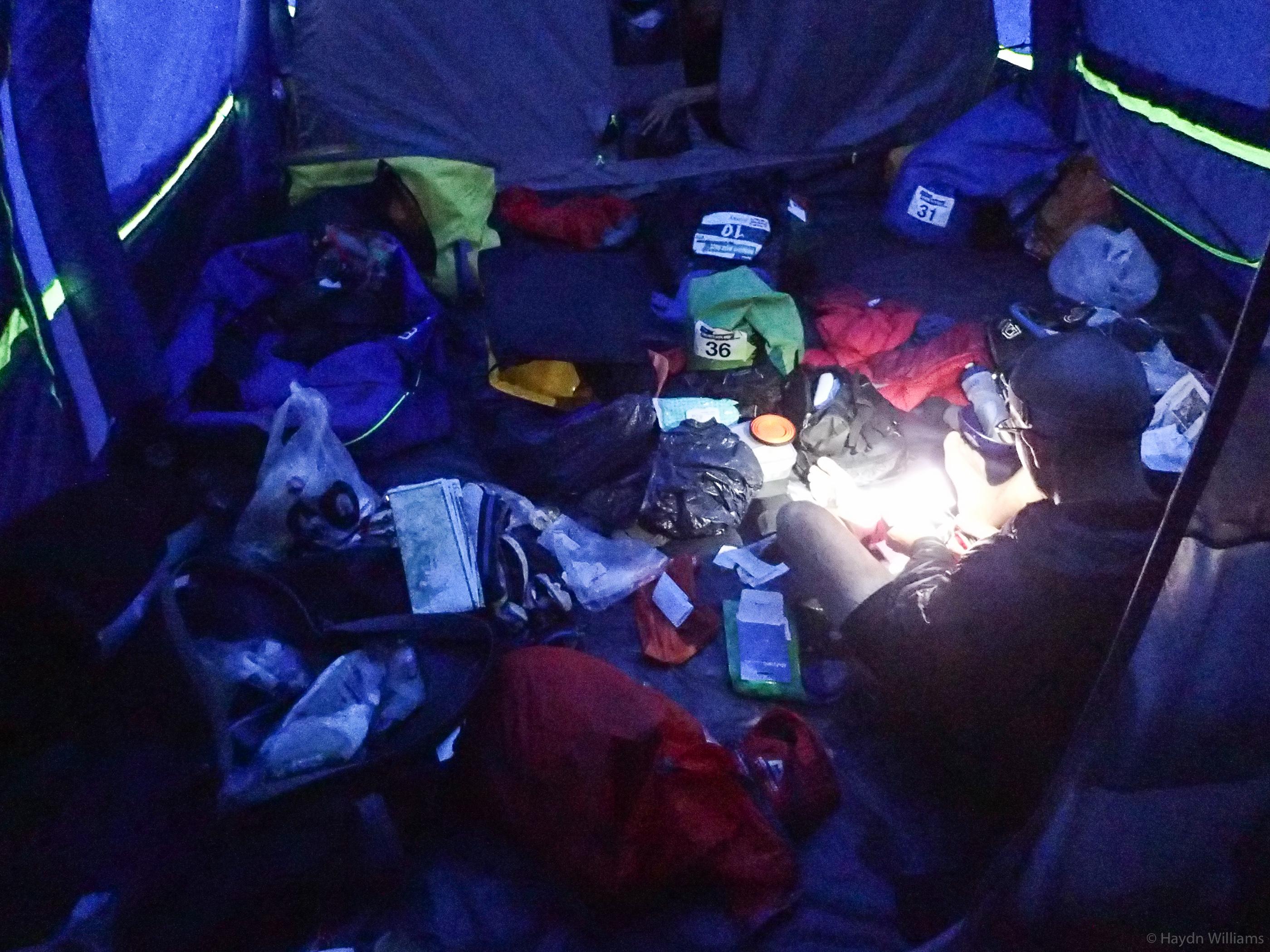 Day 3 - Tent admin. Eurgh. © Haydn Williams 2017