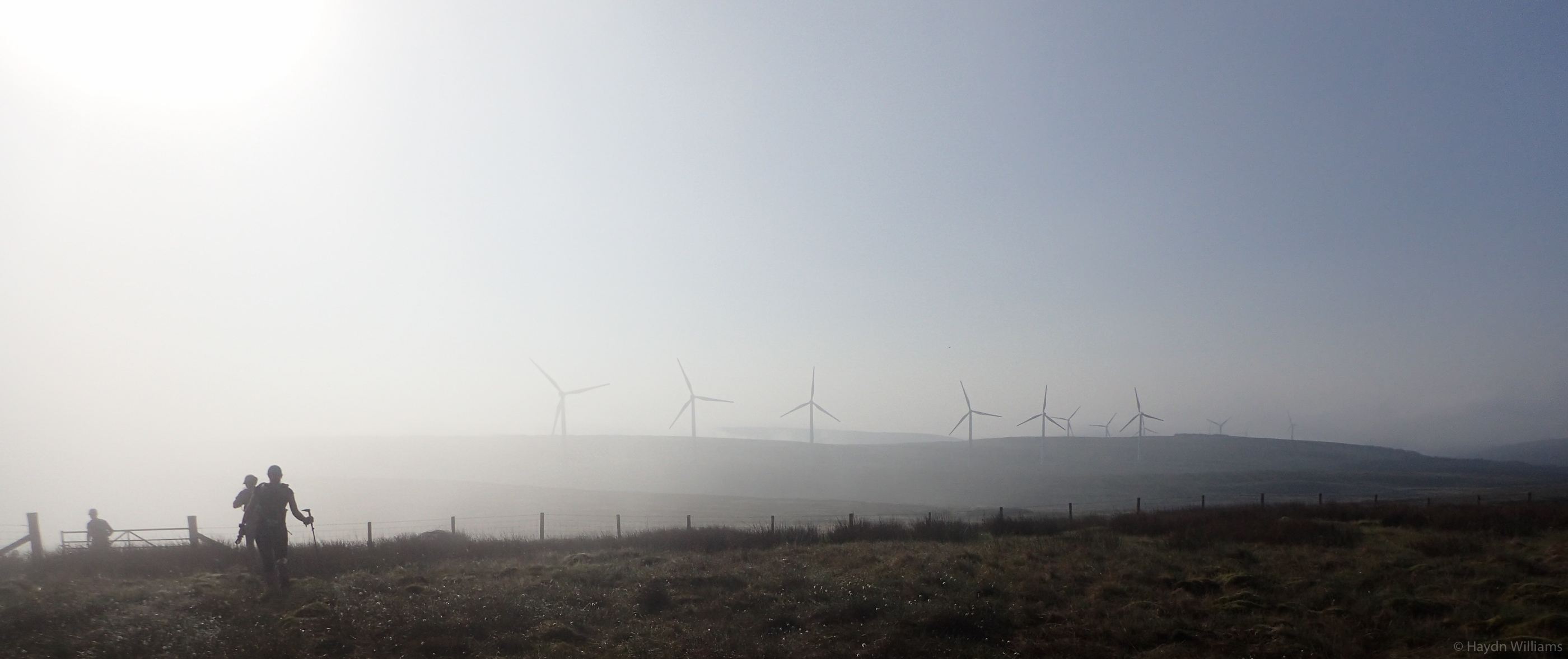 Day 4 - Starting the day towards the wind farm. © Haydn Williams 2017