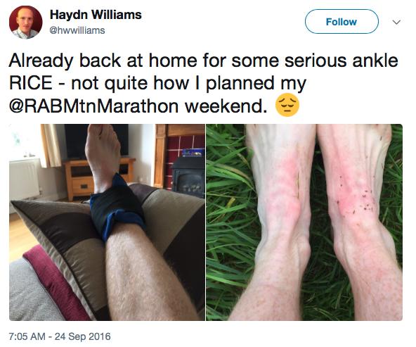Rab Mountain Marathon tweet.