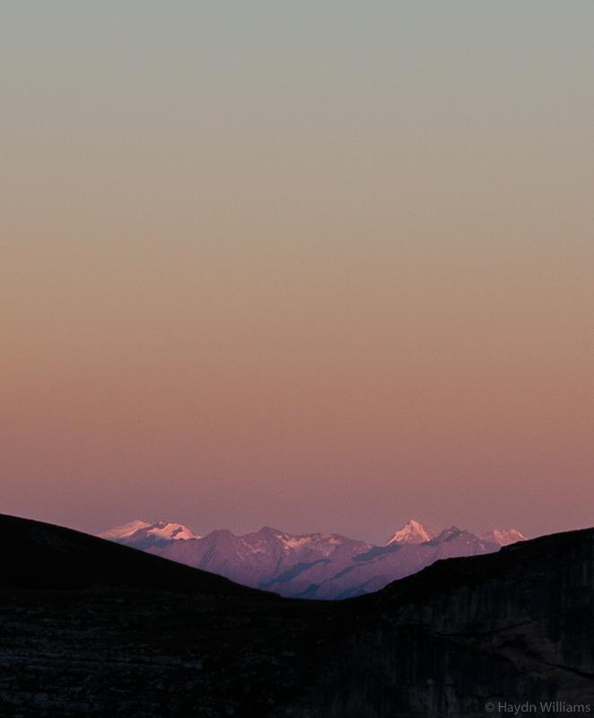 Morning light on distant hills. © Haydn Williams 2016