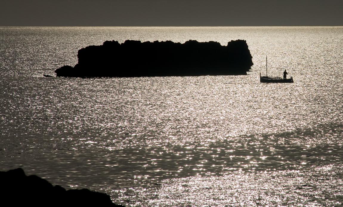 Evening fishing, Menorca. © Haydn Williams 2008