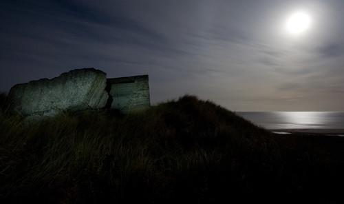Moonlit pill-box (Copyright Haydn Williams 2008)