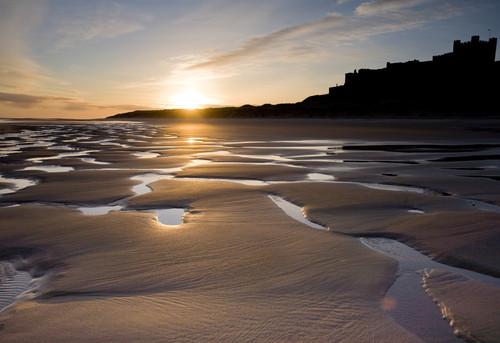 Bamburgh beach sunrise (Copyright Haydn Williams 2008)