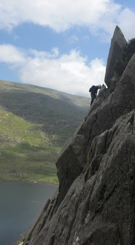 <strong>Unknown climber on Milestone Buttress.</strong><br />Copyright Haydn Williams 2009