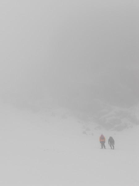 Climbers below Clogwyn Du. Copyright Haydn Williams 2010