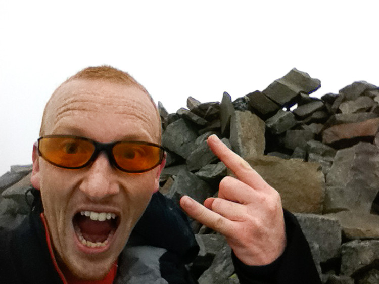 You can tell no-one else was around when I got to the summit of Elidir Fawr. Copyright Haydn Williams 2010