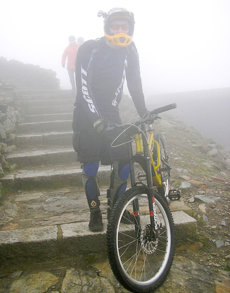 Ready to start the descent. Copyright George Hulston 2010
