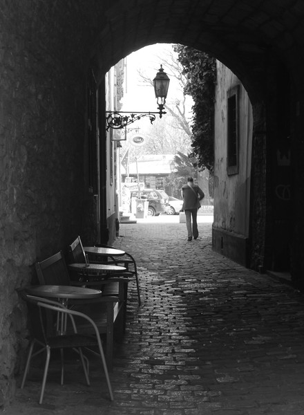Morning in the old town. Copyright Haydn Williams 2011.
