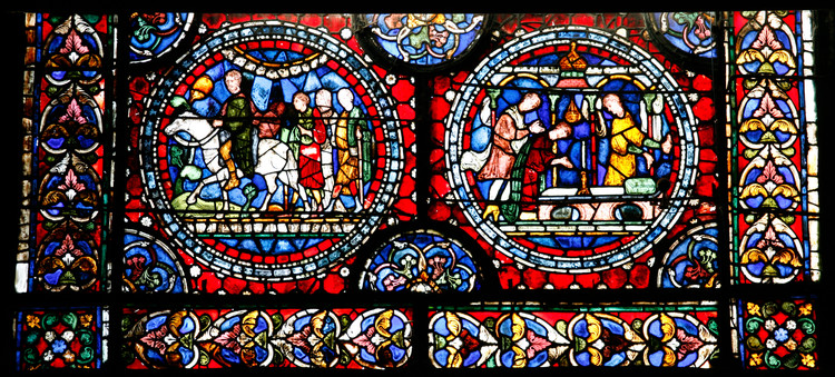 When these windows were made, glass in general was a cutting-edge technology. Copyright Haydn Williams 2011