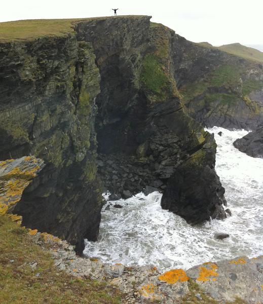 Me at the top of cliffs near Ynys Lochtyn. Copyright Haydn Williams 2011