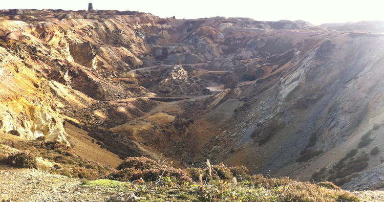 """The bizarre landscape of Parys Mountain copper mine, created using """"nothing more"""" than picks, shovels.... and dynamite! © Haydn Williams 2011"""