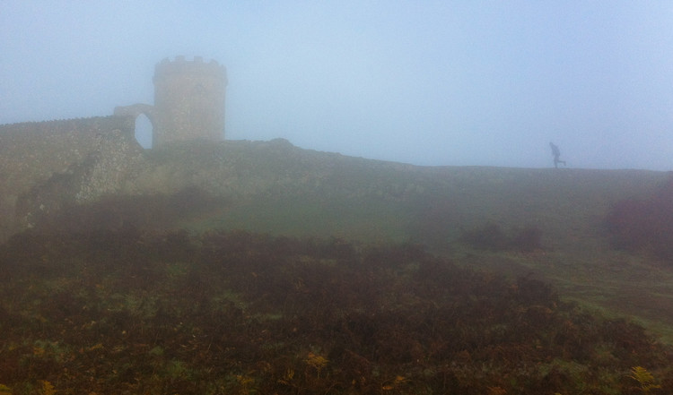 Greg approaching the tower at Bradgate Park. © Haydn Williams 2011