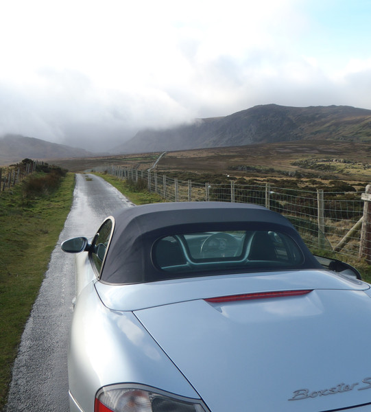 The road to Cwm Eigiau stretches ahead of my toy for the weekend. © Haydn Williams 2011