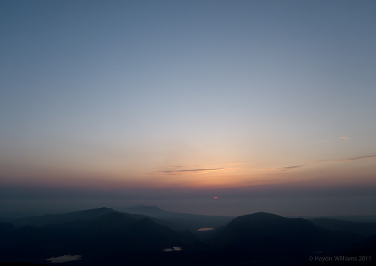 Sunset from Bwlch Glas. © Haydn Williams 2012