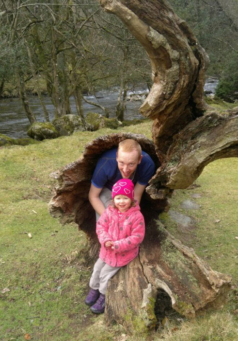 Nothing says 'holiday' like hiding in a log. © Helen Sumner 2012