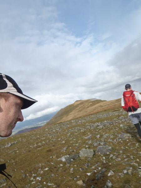 Yes, the photo's wonky. I was running. Mynydd Perfedd. © Haydn Williams 2012