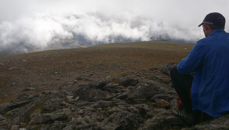 Last one of the day - on the summit of Y Garn. © Haydn Williams 2012