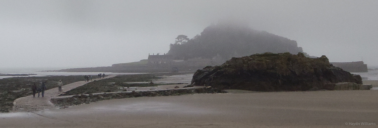 Saint Michael's Mount after the rain has blown in. © Haydn Williams 2013
