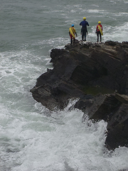 Seems like perfect conditions for coasteering. © Haydn Williams 2013