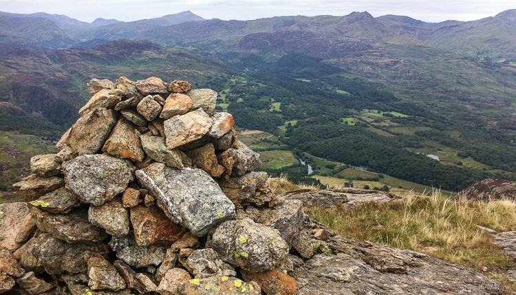 Never been up here before - the summit of Moel-ddu. Route goes straight ahead then along the skyline. © Haydn Williams 2013