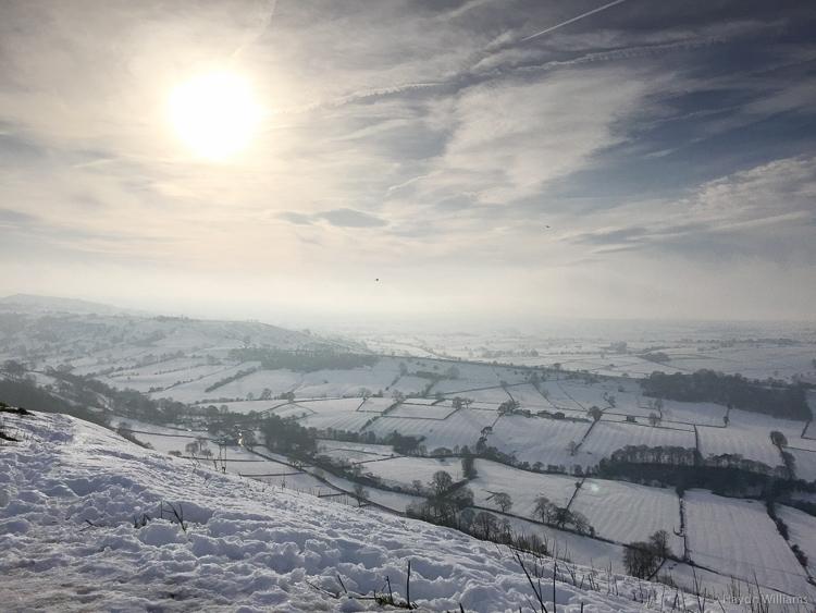 Worth the climb: looking south from High Wheeldon. © Haydn Williams 2014
