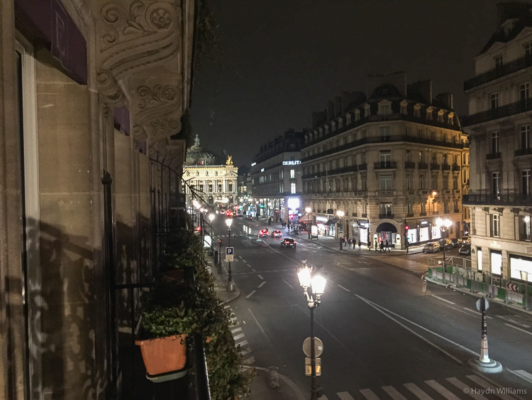 View from the hotel towards Opera Garnier. © Haydn Williams 2015