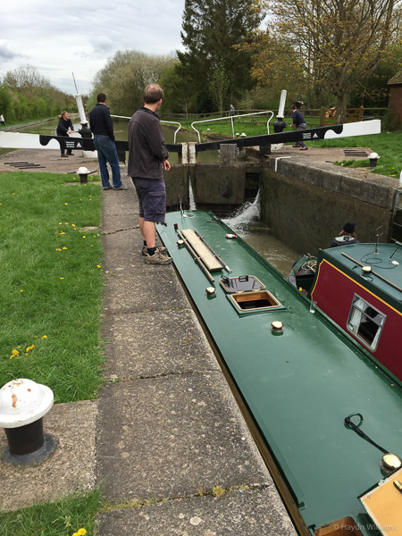 The lock teams in action. © Haydn Williams 2015