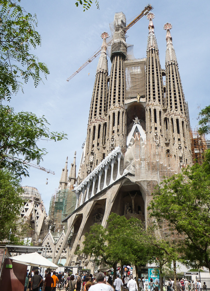 The still-unfinished Sagrada Família, with more Gaudi-designed bits still being added. © Haydn Williams 2015
