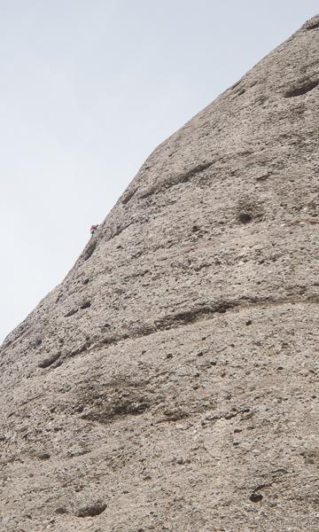 Sport climbing on Montserrat. © Haydn Williams 2015