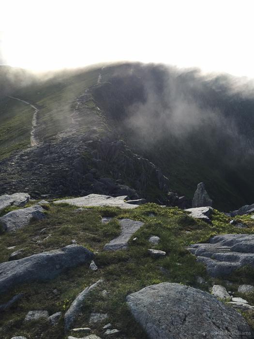 The top of Y Gribin from Castell y Gwynt. © Haydn Williams 2015