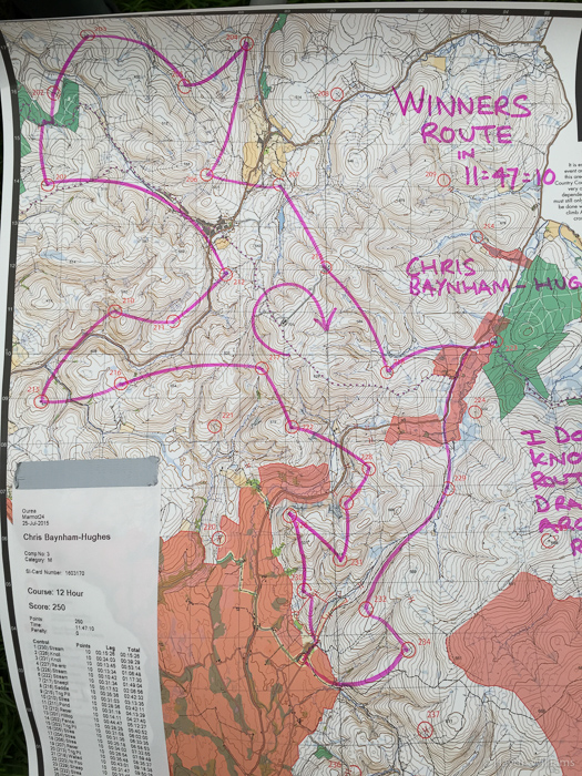 12-hour winner's route. At least I was close-ish. ©Haydn Williams 2015