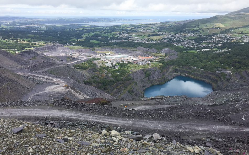This photo really doesn't do justice to the scale of the quarry. © Haydn Williams 2015