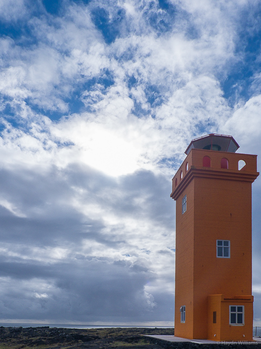Svörtuloft lighthouse - it's solar-powered! © Haydn Williams 2015