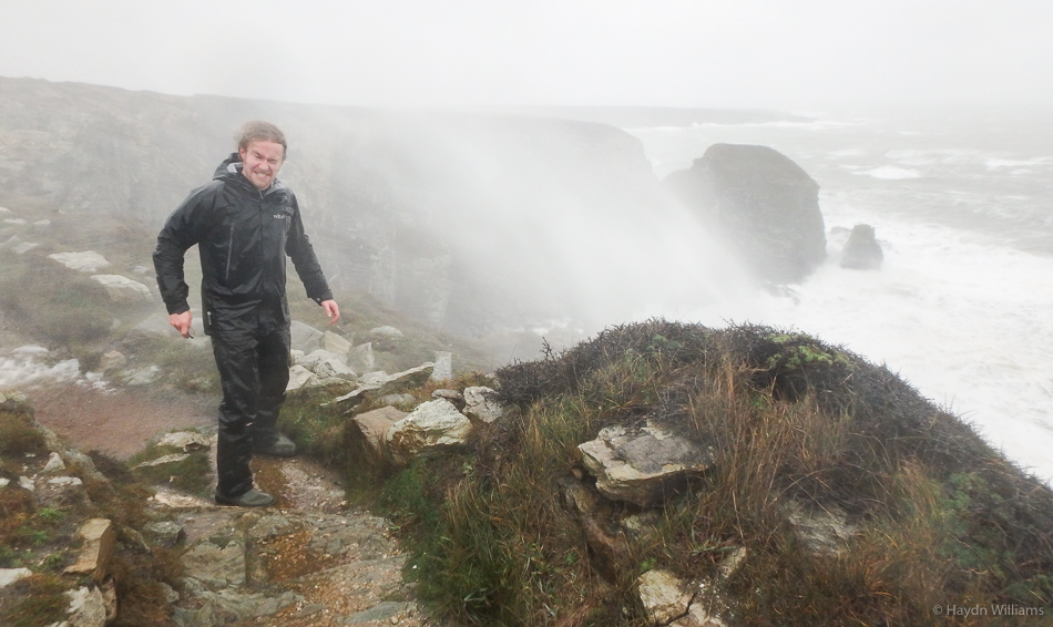It's all getting a bit blustery at the top of the cliffs. © Haydn Williams 2015