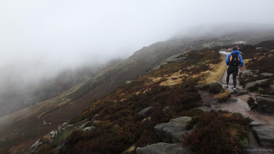 Gaining the plateau near Ringing Roger. © Haydn Williams 2015