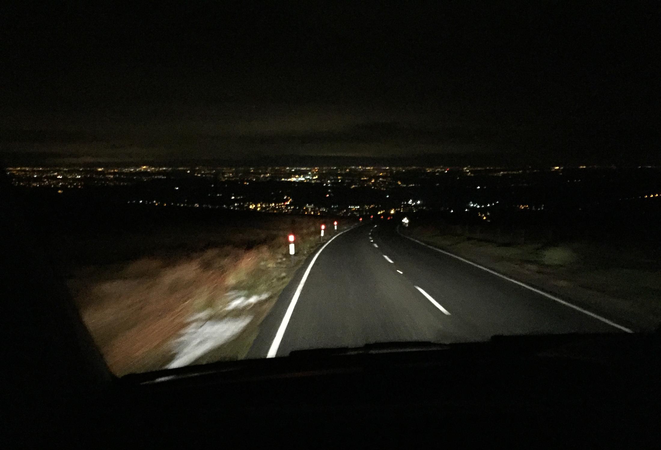Heading off Black Hill back towards civilisation. ©Haydn Williams 2017