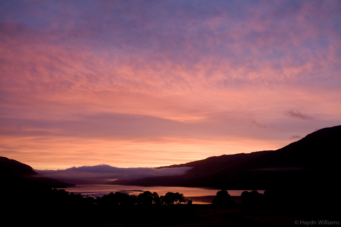 Sunrise over Loch Earn; my first ever MPS meet. © Haydn Williams 2008